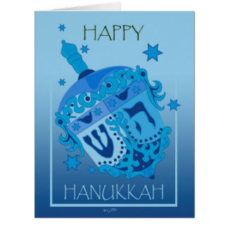 "HAPPY HANUKKAH CARTOON Big (8.5"" x 11"") Card"