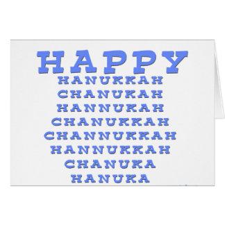 HAPPY HANUKKAH CHANUKAH Card