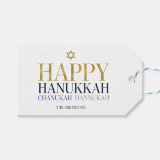 Happy Hanukkah Chanukah Holiday Gift Tags