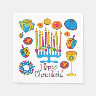 Happy Hanukkah - Chanukah Napkin Paper Napkins