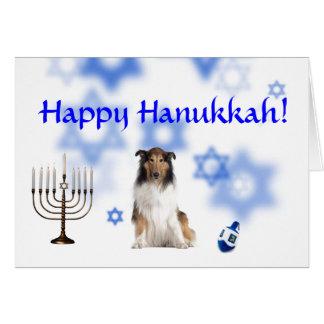 Happy Hanukkah Collie Cards
