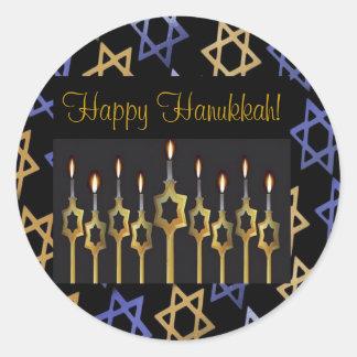 Happy Hanukkah! Custom Large Sticker Template