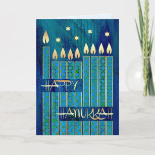 Personalized Gift Card Happy Hanukkah For Boojam Jewelry Custom Greeting Card. Gift Message