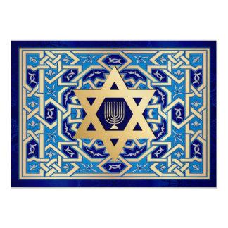 Happy Hanukkah. Customizable Greeting Cards Invitation