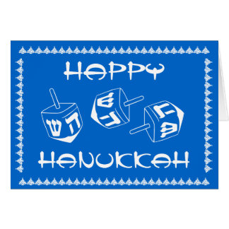 Happy Hanukkah Customizable Holiday Card