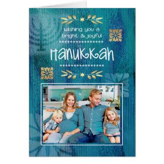 Happy Hanukkah. Customizable Photo Cards