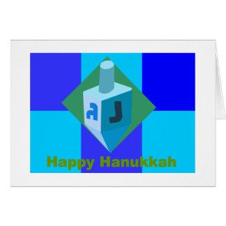 Happy Hanukkah Dreidel Card