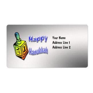 Happy Hanukkah - Dreidel Shipping Label