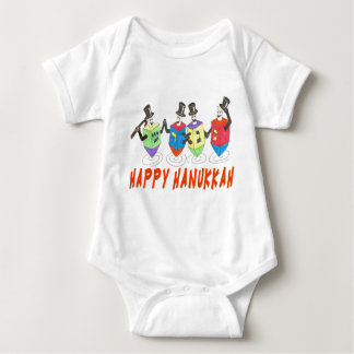 HAppy Hanukkah dreidels /shirt Baby Bodysuit