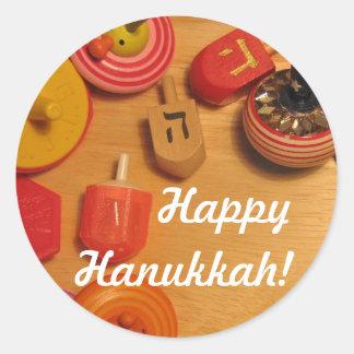 Happy Hanukkah - Dreidels Stickers