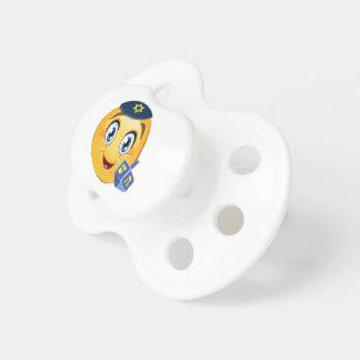 Happy Hanukkah Emoji Baby Pacifier