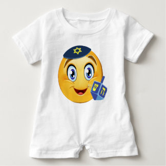 Happy Hanukkah Emoji Baby Romper