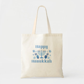 Happy Hanukkah Festive Tote Bag