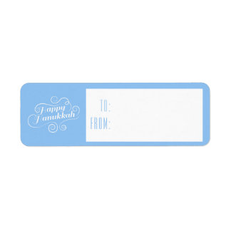 Happy Hanukkah Flourish Gift Tags