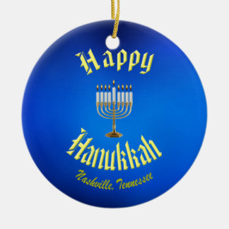 Happy Hanukkah from Nashville Tennessee Ornament