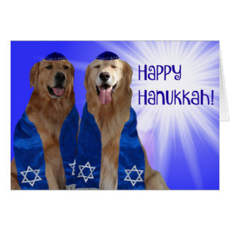 Happy Hanukkah Glow Card