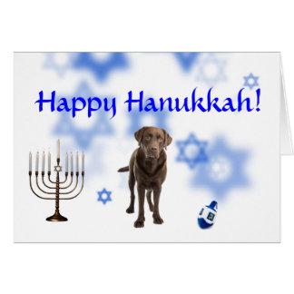 Happy Hanukkah Great Labrador Retriever Cards