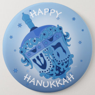 HAPPY HANUKKAH HOLIDAYS Colossal, 6 Inch 6 Inch Round Button