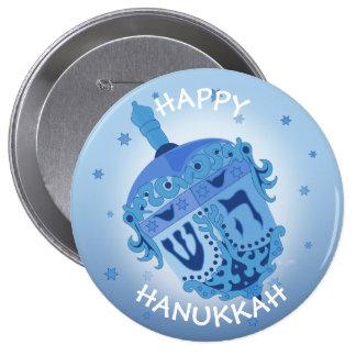 HAPPY HANUKKAH HOLIDAYS Huge, 4 Inch 4 Inch Round Button