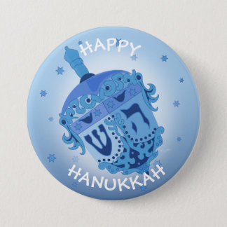HAPPY HANUKKAH HOLIDAYS Large, 3 Inch 3 Inch Round Button