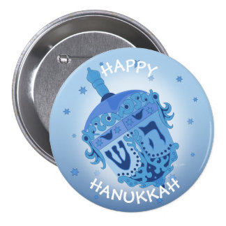 HAPPY HANUKKAH HOLIDAYS Large, 3 Inch 3 Inch Round Button