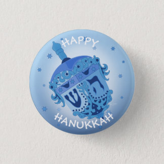 HAPPY HANUKKAH HOLIDAYS Small, 1¼ Inch 1 Inch Round Button