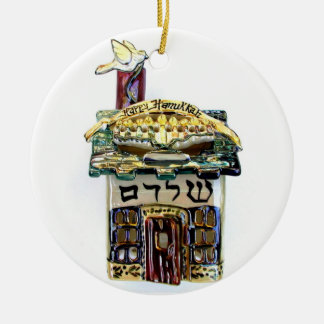 HAPPY HANUKKAH HOUSE HOLIDAY ORNAMENT