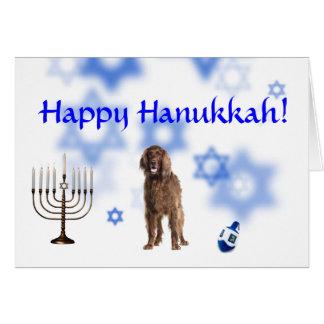 Happy Hanukkah Irish Setter Greeting Card