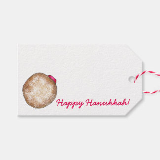 Happy Hanukkah Jelly Donut Doughnut Gift Tags Pack Of Gift Tags