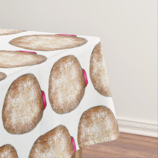 Happy Hanukkah Jelly Donut Sufganiyot Chanukah Tablecloth