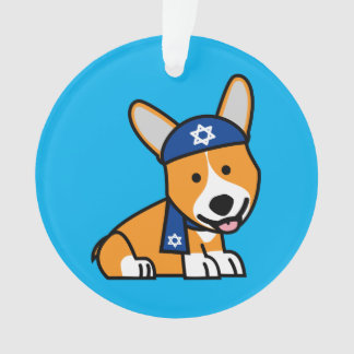 Happy Hanukkah Jewish Corgi Corgis Dog Puppy Ornament