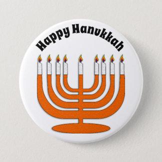Happy Hanukkah Jewish Holiday Button