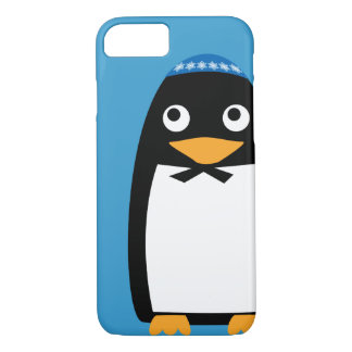 Happy Hanukkah Jewish Penguin Yarmulke iPhone 7 Case