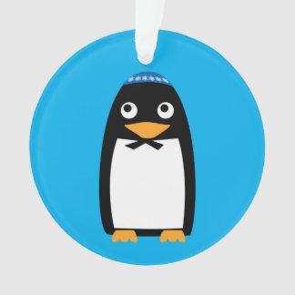Happy Hanukkah Jewish Penguin Yarmulke Ornament