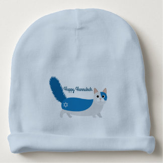 Happy Hanukkah Kitty Cat Baby Beanie