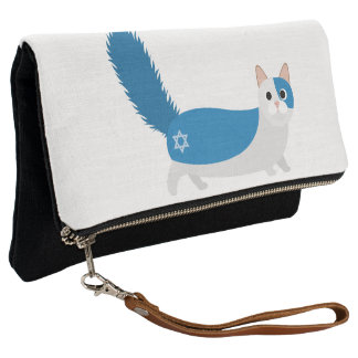 Happy Hanukkah Kitty Cat Clutch