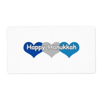 Happy Hanukkah Custom Shipping Label