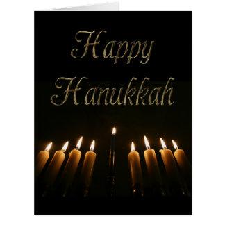 Happy Hanukkah Lamp Menorah Lights Candles Card