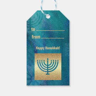 Happy Hanukkah. Menorah Design Custom Gift Tags Pack Of Gift Tags