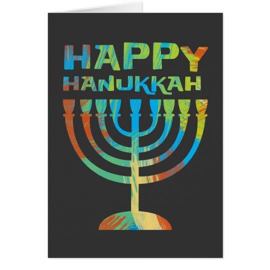 Happy Hanukkah Menorah Greeting Cards
