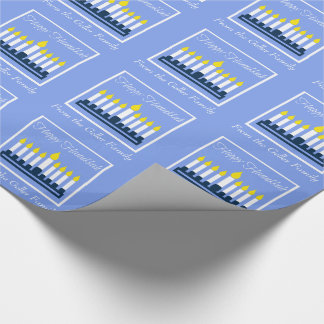 Happy Hanukkah Menorah Wrapping Paper