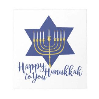 Happy Hanukkah Notepad