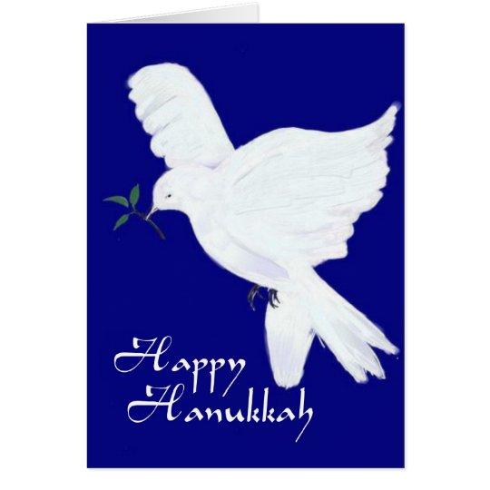Happy Hanukkah-Peace Dove Card