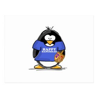 Happy Hanukkah Penguin Postcards