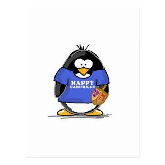 Happy Hanukkah Penguin Postcard