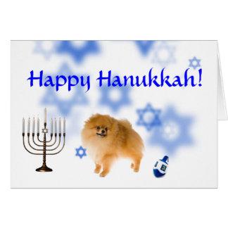 Happy Hanukkah pomeranian Card