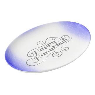 Happy Hanukkah Porcelain Serving Platter