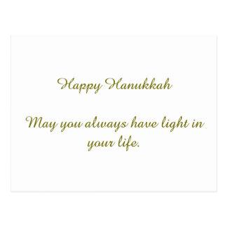 Happy Hanukkah Post Card