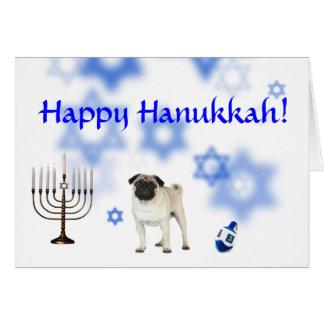 Happy Hanukkah pug Card