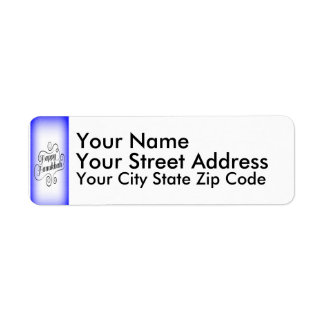 Happy Hanukkah Return Address Label
